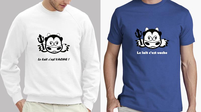 Tshirt sur l'intolérance au lactose