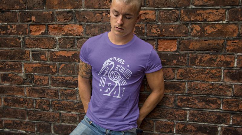 T-Shirt Tribal Pétroglyphe Autruche